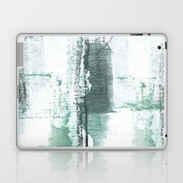 Gray green stained watercolor texture Laptop & iPad Skin