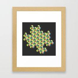 Island of Cubes Framed Art Print