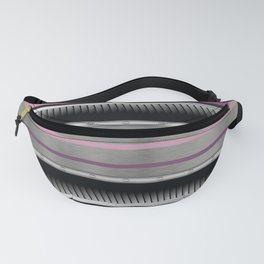 Pink Purple Metallic Accented By Black Chrome Steampunk Jaws Fanny Pack