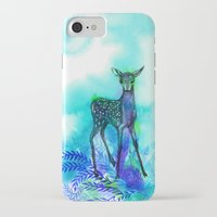 bambi iPhone & iPod Cases featuring bambi by anneamanda