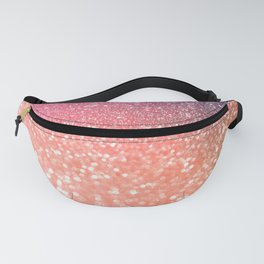 Rose Gold Peach Glitter Blush Fanny Pack