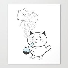 Smoke Cat not War Canvas Print