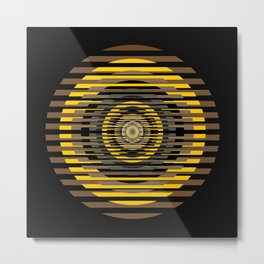 Sliced target Metal Print