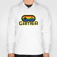 gamer Hoodies featuring Rainbow Gamer by UMe Images