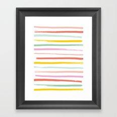 Fruit Stripes Framed Art Print