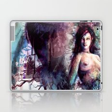 Mistress of the Chronos Gate - Woman Digital Painting Collage Laptop & iPad Skin