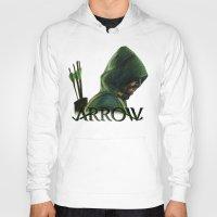 green arrow Hoodies featuring Green Arrow by xDontStopMeNow