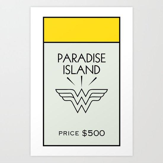 Paradise City Monopoly Location Art Print