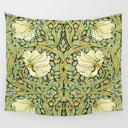W Morris Pipernel Art Nouveau Detail Wall Tapestry
