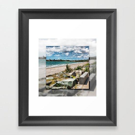 Beautiful Bay View Framed Art Print