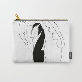 Woman with Banana Leaves #1 #minimal #line #art #society6 Carry-All Pouch