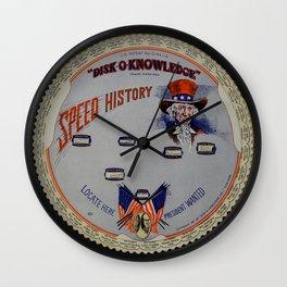 Speed History Wall Clock