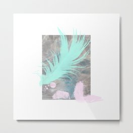 Tealfeather on waterclouds Metal Print