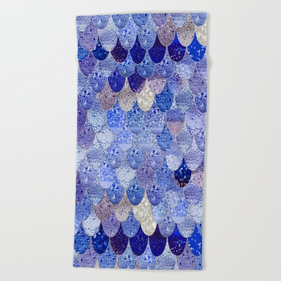 SUMMER MERMAID ROYAL BLUE Beach Towel