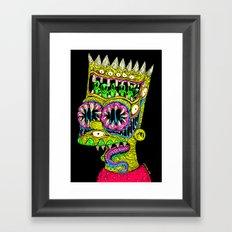 Bart Monster Framed Art Print
