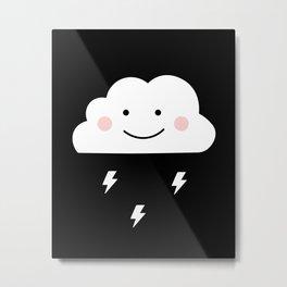 Cloud & Thunder Metal Print