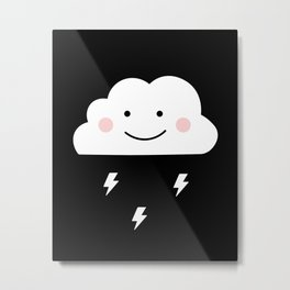 Cloud & Thunder Metal Print