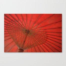 Big Asia Umbrella Red Colors Canvas Print