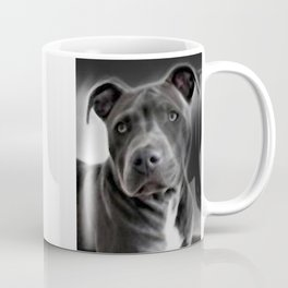 Pit Bull lover, a portrait of a beautiful Blue Nose Pit Bull Coffee Mug