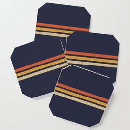 Vintage Retro Stripes Coaster