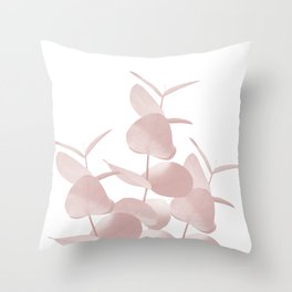 Eucalyptus Leaves Blush White #1 #foliage #decor #art #society6 Throw Pillow