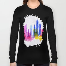 Color New York Skyline 01 Long Sleeve T-shirt