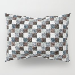 Rustic Gray Black Brown Patchwork Pillow Sham