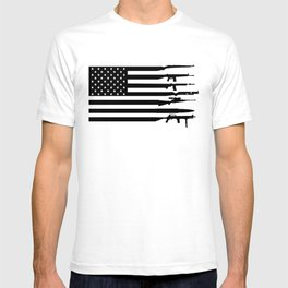 American Flag Guns , Shirt for Veteran, 4th of July, USA Flag With Guns Rifles, 2A Tshirt, 2nd Amendment Shirt For Gun Lover Owner  T-shirt