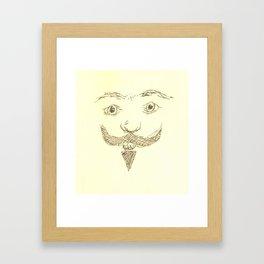 Mustache Man Framed Art Print