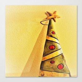 minimal Christmas tree ornament Canvas Print