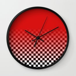 Harajuku checka Wall Clock