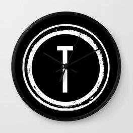 Letter T Monogram Wall Clock
