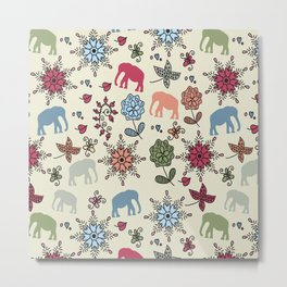 Elephants pattern #55 Metal Print