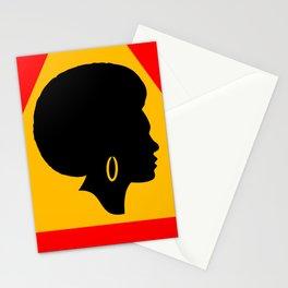 Warning Warning Afro Danger Symbol Gift Stationery Cards