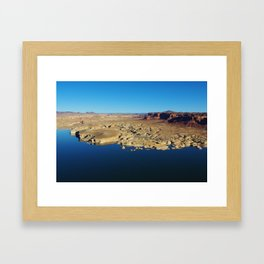 Colorado River and Hite from Hite overlook Framed Art Print
