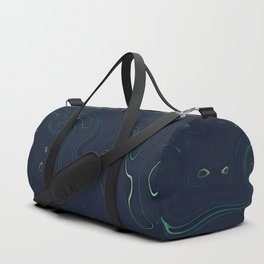 Midnight Oil Marble - Deep Blue and Vibrant Modern Marble Design Duffle Bag