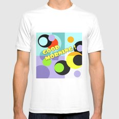 Colorful geometric pattern Good morning ! Kids design . Mens Fitted Tee MEDIUM White