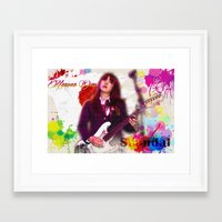 scandal Framed Art Prints featuring Scandal Baby by Don Kuing