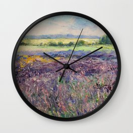 Provence Lavender Wall Clock