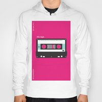 cassette Hoodies featuring Cassette  by JFE ILLUSTRATIONS