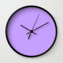 Lilac Purple Plain Wall Clock