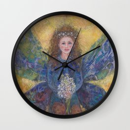 faeries fairies and angels Wall Clock