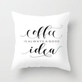 PRINTABLE Art,COFFEE SIGN,Coffee Print,Coffee Cup,Bedroom Decor,Kitchen Decor,Bar Decor Throw Pillow