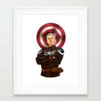 steve rogers Framed Art Prints featuring Steve Rogers by chazstity