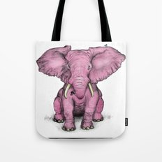 Pink Elephant and Roger Tote Bag
