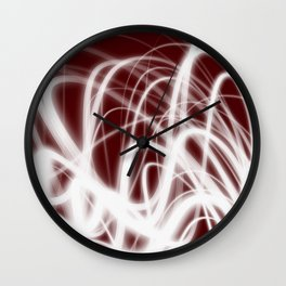 Red Flow2 Wall Clock