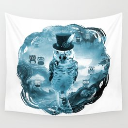 Lord Of The Owls - Blue Forest Wall Tapestry