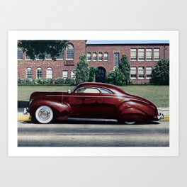 Matraga Mercury High School side view Art Print