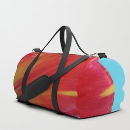 Profile of A Red and Yellow Tulip Duffle Bag