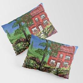 Beautiful Cottage in a Garden Pillow Sham